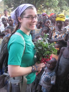 emily johnson in africa with african children