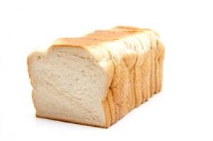 loaf of sliced white bread