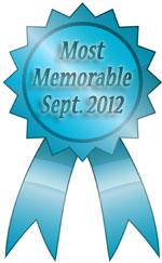 most memorable ribbon september 2012