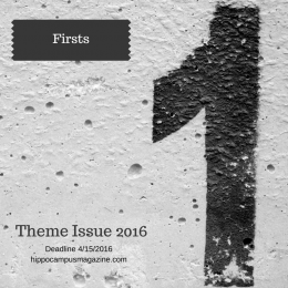 number one painted on a wall and theme issue details listed firsts deadline 4/15