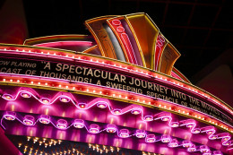 the great movie ride at disney sign in lights