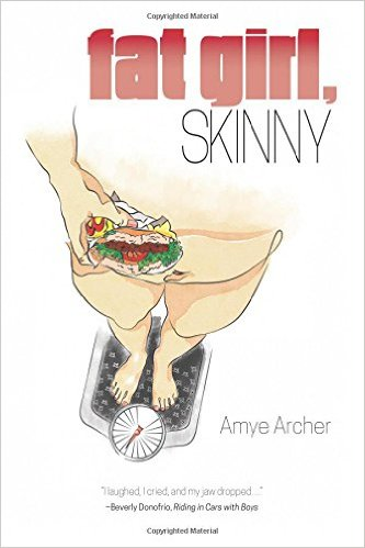 fat girl skinny cover woman with sandwich on scale
