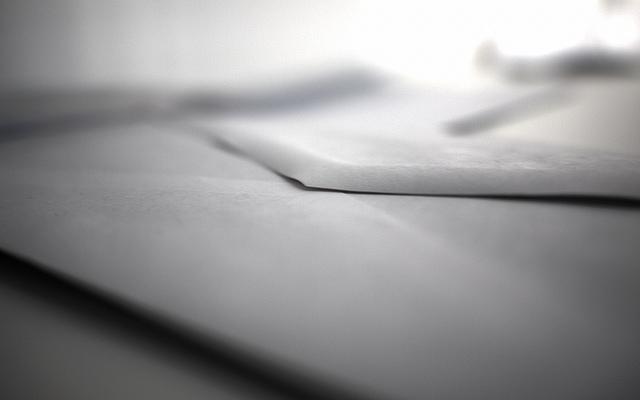 close up of sealed envelope