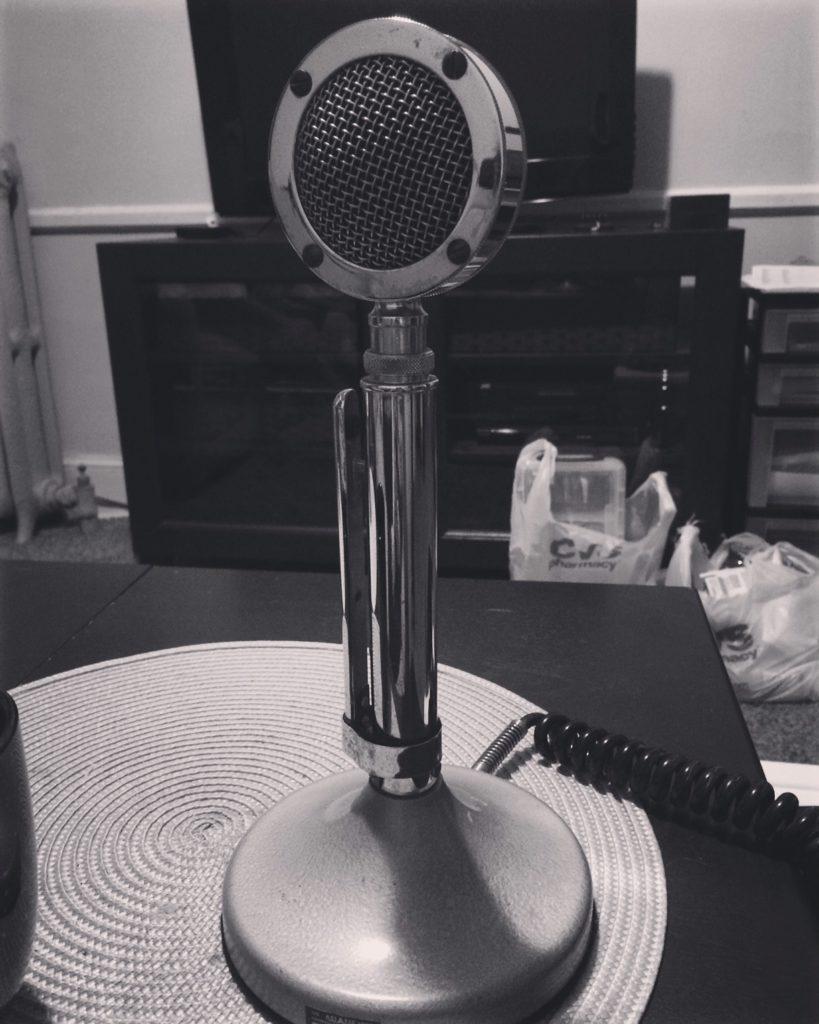 old 1940s radio microphone