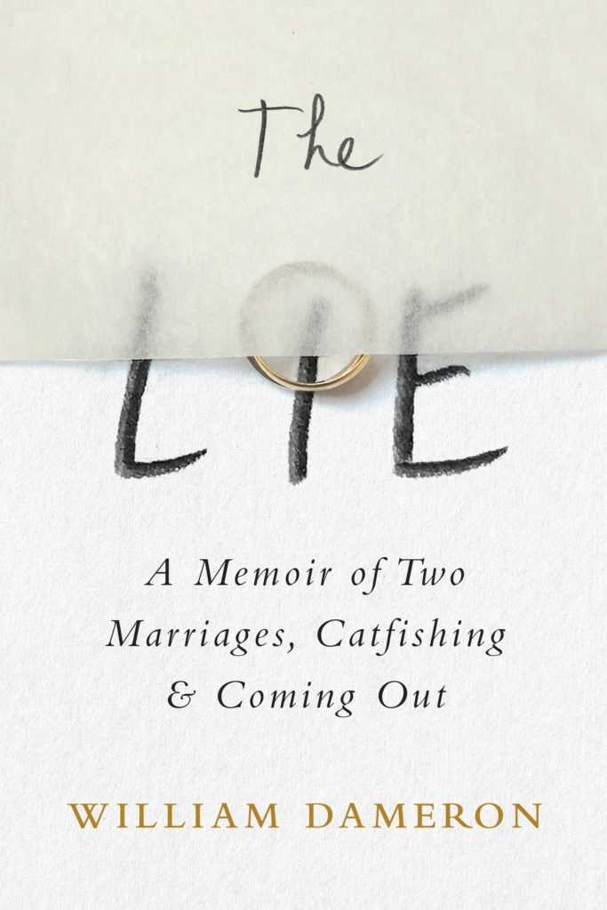 book title the lie with a gold wedding ring over the I